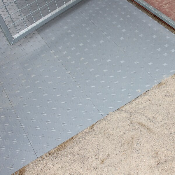 Section Yard Kennel Tile Flooring By K9 Kennel.