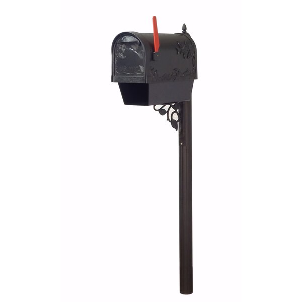 Hummingbird Curbside Mailbox with Albion Post Included by Special Lite Products