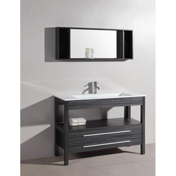 Luz 48 Single Bathroom Vanity Set with Mirror by Bosconi
