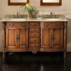 "Bathroom Vanities Set ove decors belfast 60"" double bathroom vanity set & reviews 