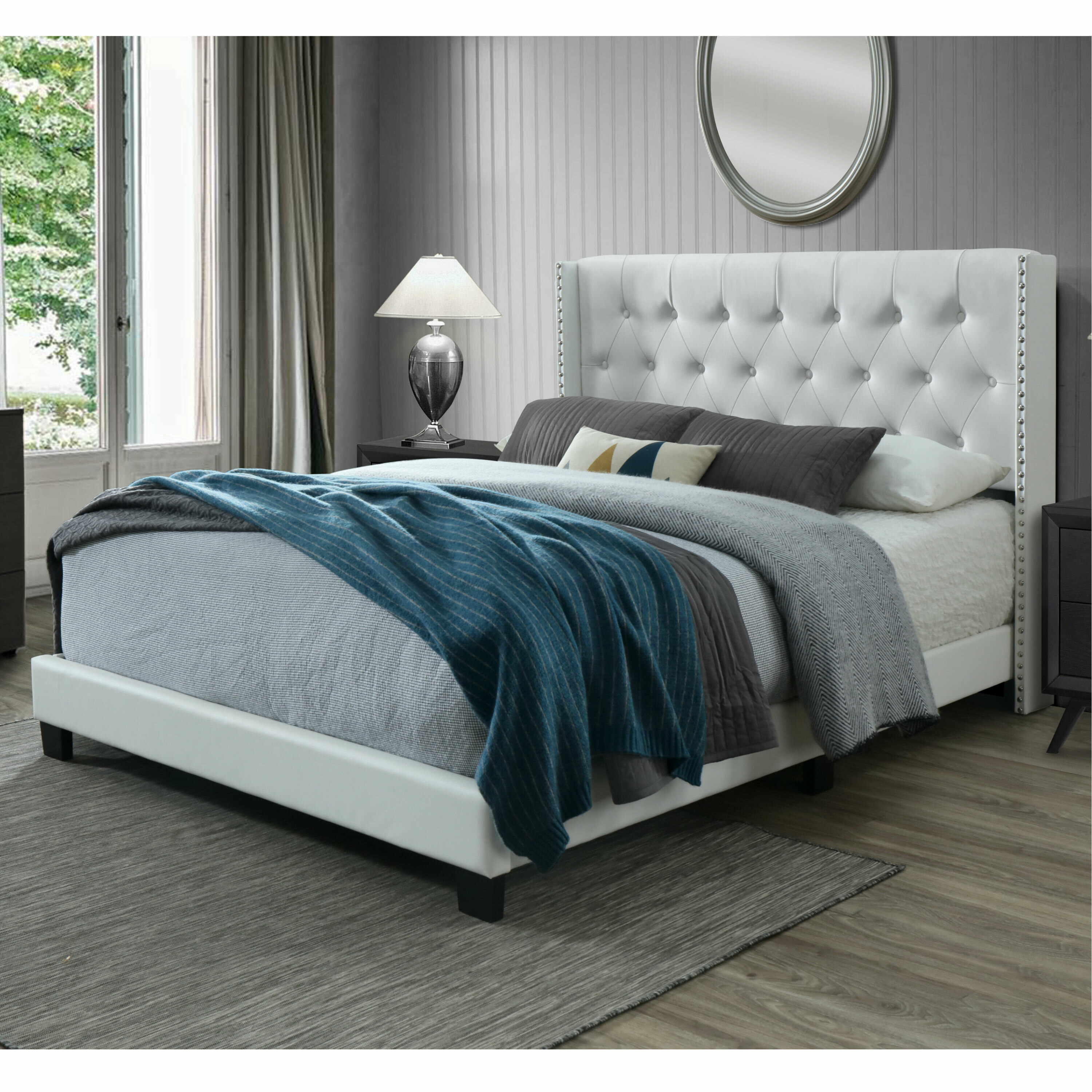 Willa Arlo Interiors Nadine Tufted Upholstered Low Profile Standard Bed Reviews Wayfair