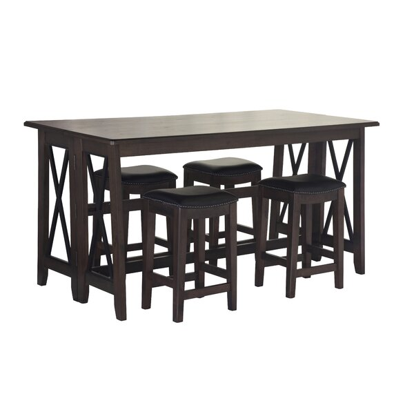 5 Piece Counter Height Drop Leaf Dining Set by Red Barrel Studio Red Barrel Studio