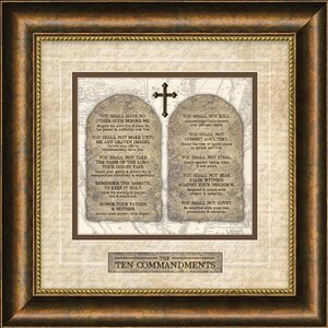 Traditional for Today 'Ten Commandments' Framed Textual Art by Carpentree