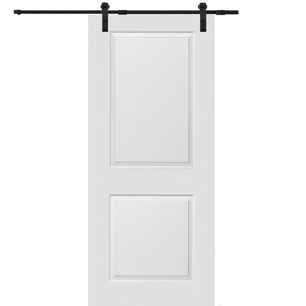 Carrara Smooth Surface Solid Panelled MDF Interior Barn Door by Verona Home Design