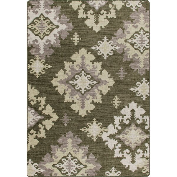 Mix and Mingle Loden Highland Star Rug by Milliken
