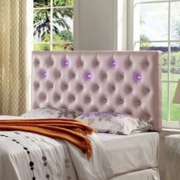 Barbieri Contemporary Upholstered Panel Headboard by Wrought Studio