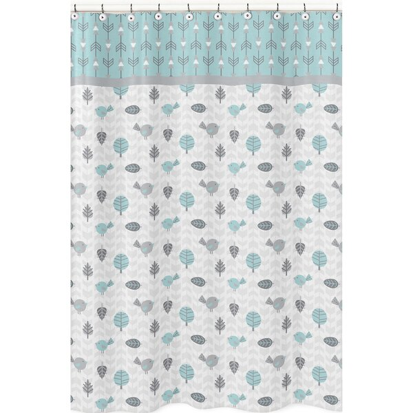 Earth and Sky Microfiber Shower Curtain by Sweet Jojo Designs