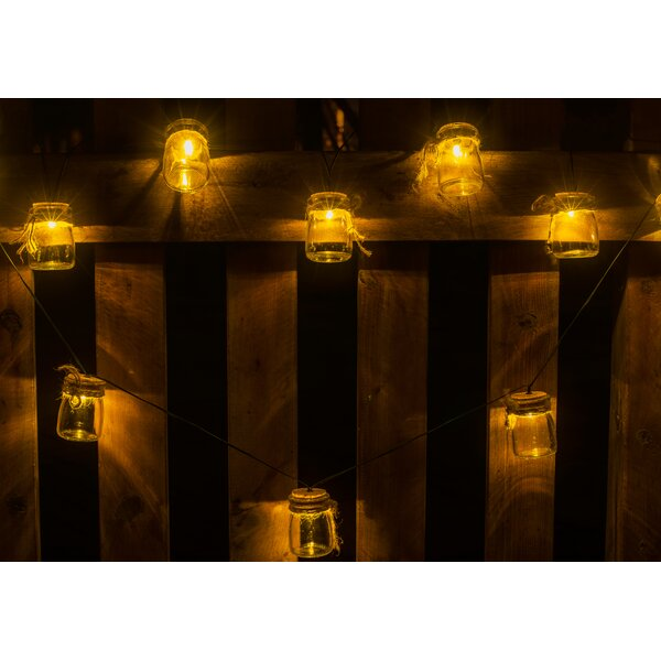 Jars with Twine 10-Light Novelty String Lights by Winsome House