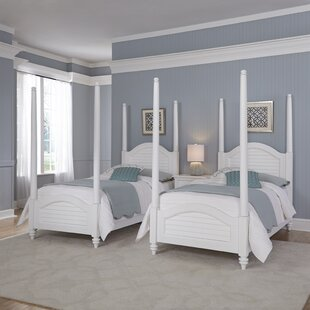 Shop for Harrison Twin Four Poster Bed ByBeachcrest Home
