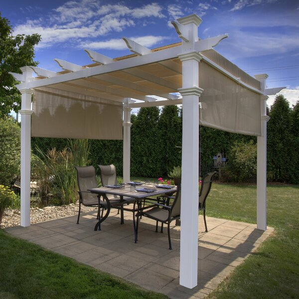 Eden 10 Ft. W x 10 Ft. D Vinyl Pergola by New England Arbors