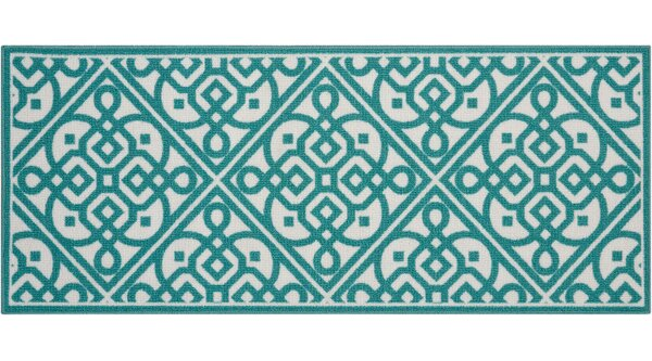 Fancy Free & Easy Lace It Up Teal Area Rug by Waverly