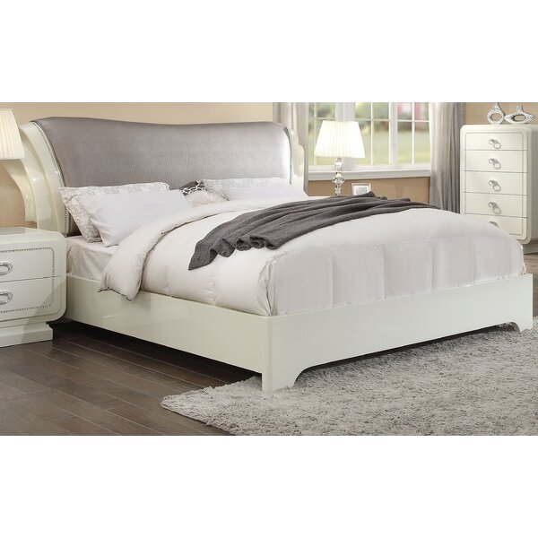 Great price Gilleland Upholstered Sleigh Bed By Everly Quinn Purchase