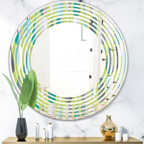 Whirl Foliage and Geometrics Modern Wall Mirror