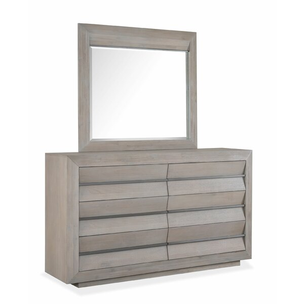 Bryson 6 Drawer Double Dresser with Mirror by Latitude Run