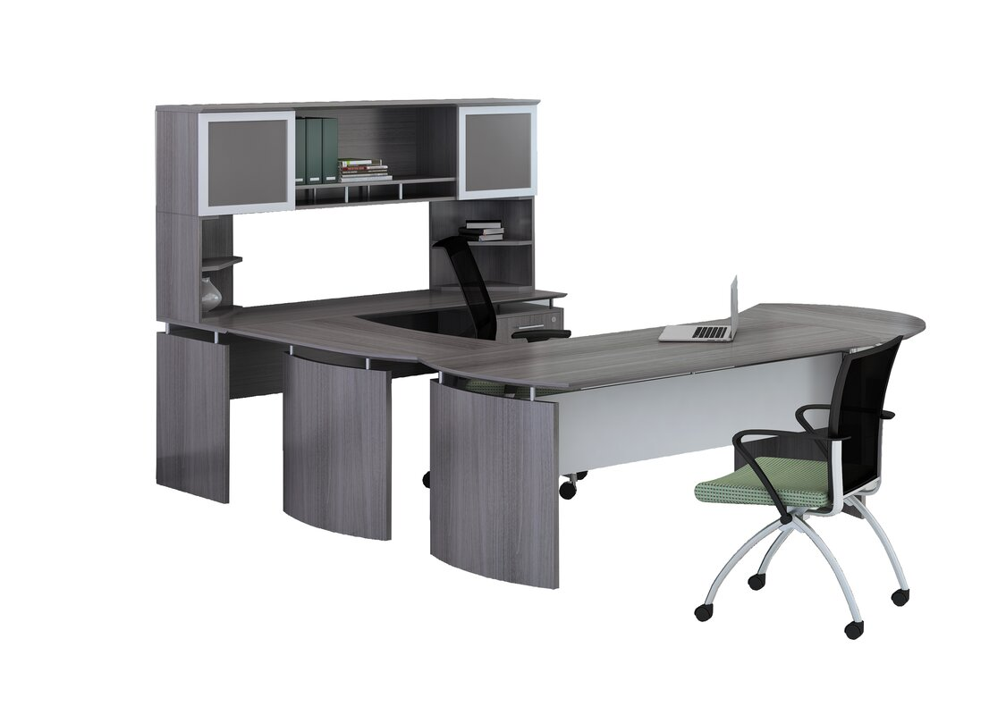 Medina Series 3 Piece U Shape Desk Office Suite