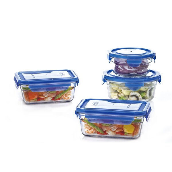 Glasslock 4 Container Food Storage Set by Crover