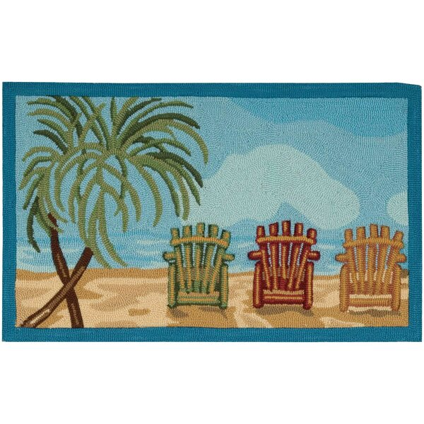 Naiara Hand-Tufted Blue/Green Area Rug by Highland Dunes