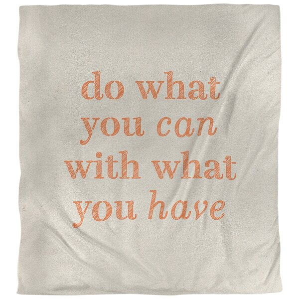 Do What You Can Quote Single Duvet Cover