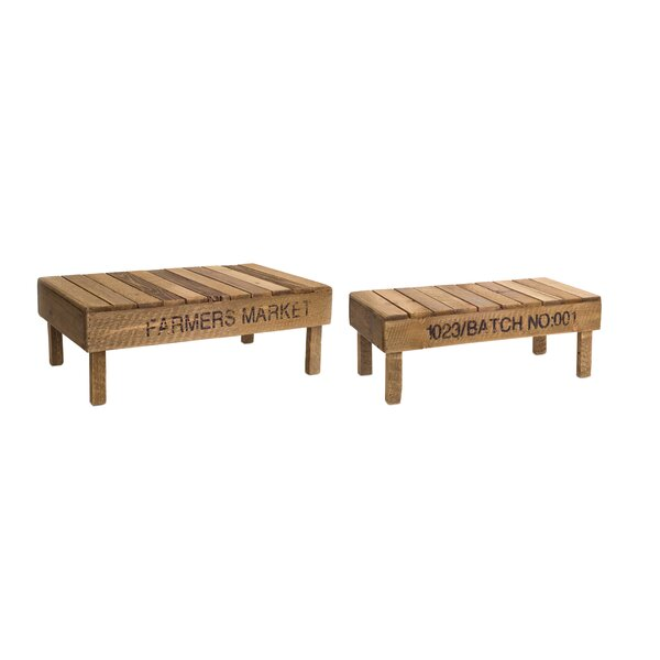 Greenford Slotted 2 Piece Accent Stool Set by Gracie Oaks