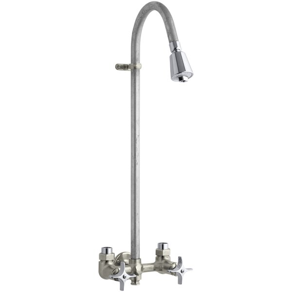 Industrial Exposed Shower with Reversible Yoke and