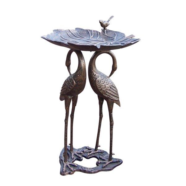 2 Crane Lily Birdbath by Oakland Living