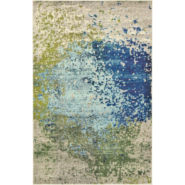 Hayes Beige/Blue/Green Area Rug by World Menagerie