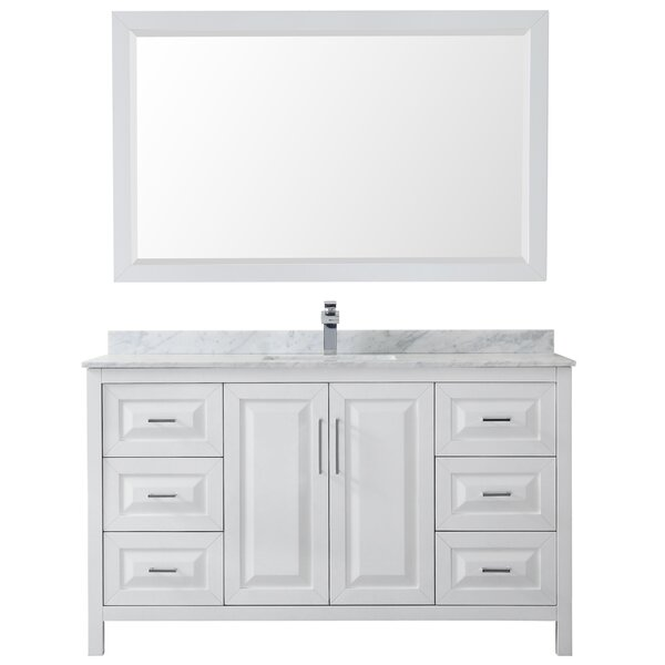 Daria 60 Single Bathroom Vanity Set with Mirror by Wyndham Collection