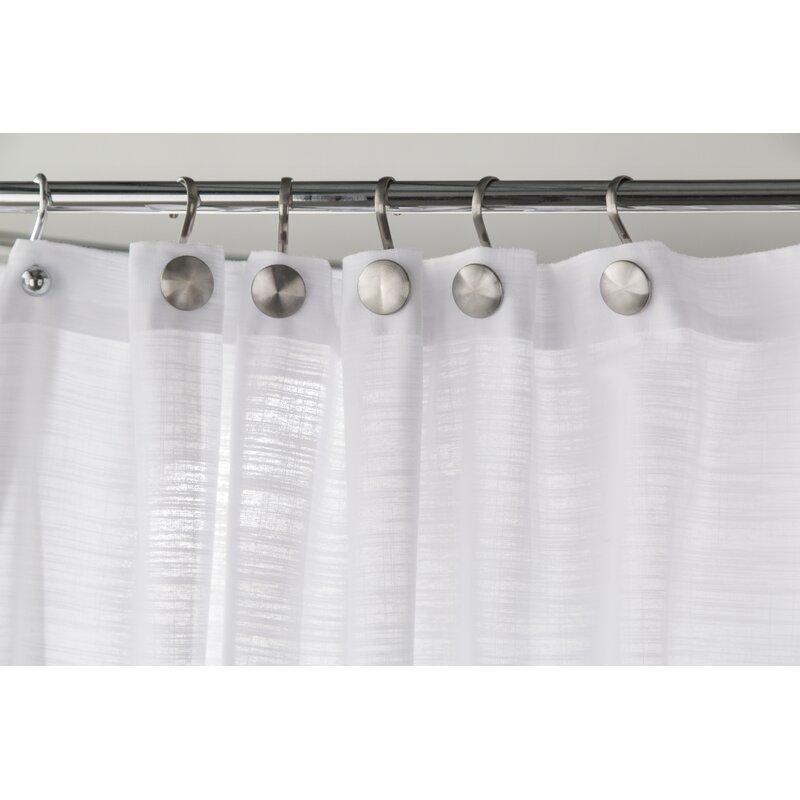 Ariana Stainless Steel Double Roller Shower Curtain Hooks
