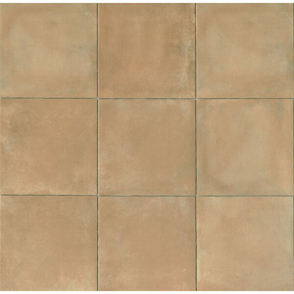 Cotto Nature 14 x 14 Porcelain Leather Look/Field Tile in Beige by Bedrosians