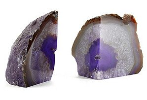Pair Agate Bookend (Set of 2) by Everly Quinn