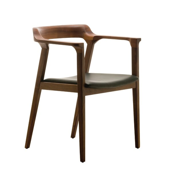 Caitlan Solid Wood Wingback Arm Chair By Nuevo