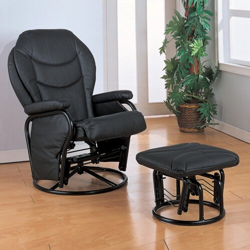 Brentwood Swivel Glider and Ottoman by Symple Stuff