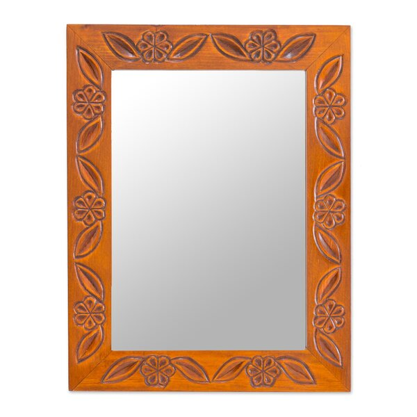 Podington Rustic Apple Blossoms Accent Mirror by Bloomsbury Market