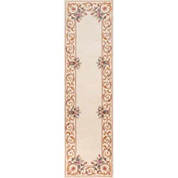 Laurel Hand-Tufted Wool Ivory Area Rug by Astoria Grand