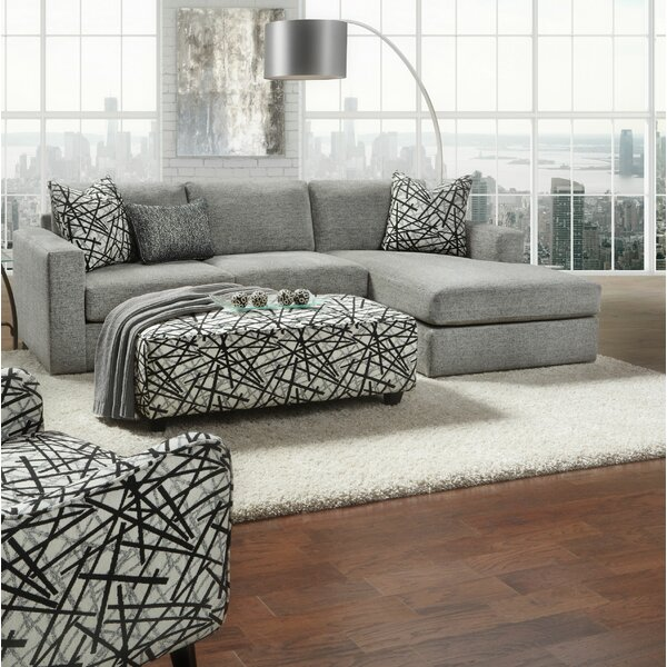 Arborglen 107-inch Right Hand Facing Sectional by Wrought Studio Wrought Studio