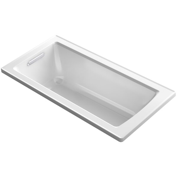 Archer VibrAcoustic Drop-in Bath with Bask™ Heated Surface and Reversible Drain by Kohler