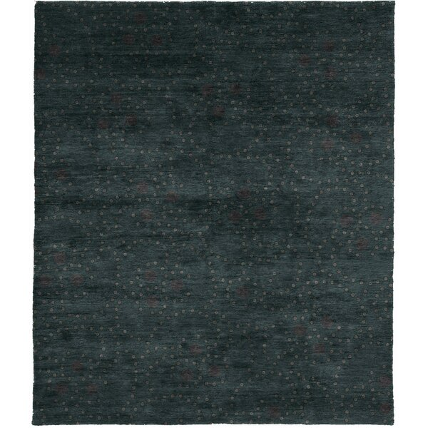 One-of-a-Kind Daxton Hand-Knotted Traditional Style Green 10' x 14' Wool Area Rug