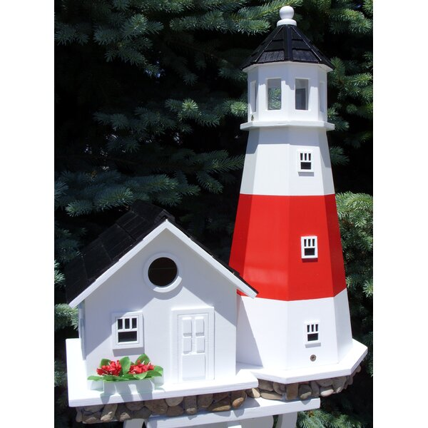 Historic Reproductions Montauk Point Lighthouse 19.5 in x 18.5 in x 18.5 in Birdhouse by Home Bazaar