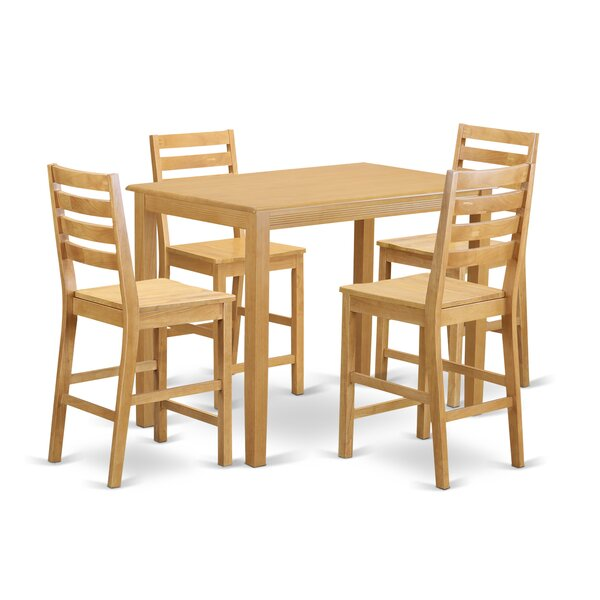 #2 Yarmouth 5 Piece Counter Height Pub Table Set By Wooden Importers Top Reviews