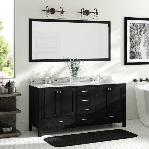 Fridley 71 Double Bathroom Vanity Set with Mirror