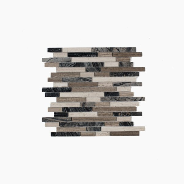 Byron 12.06 x 12.06 Marble Mosaic Tile in Wooden Marble Mix by Maykke