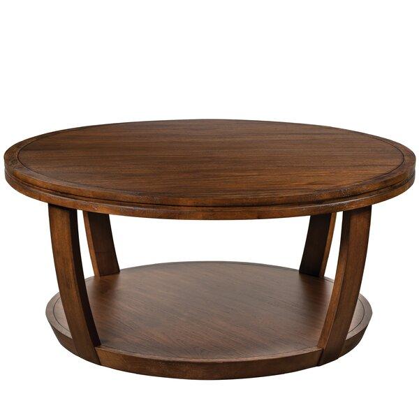 Winton Floor Shelf Coffee Table with Storage by Breakwater Bay Breakwater Bay