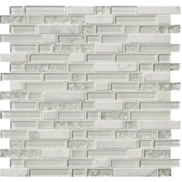 Delano Blanco Glass/Stone Mosaic Tile in White by MSI