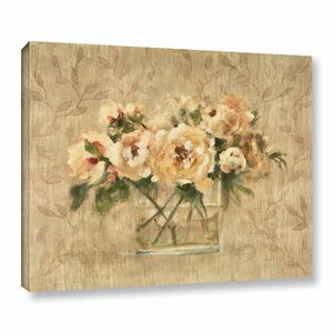 'Peonies in Glass' Painting Print on Wrapped Canvas by Lark Manor