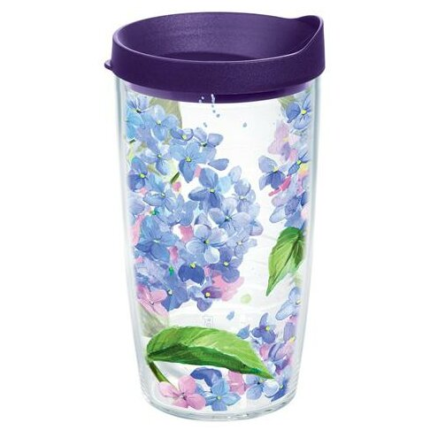 Garden Party Hydrangeas Plastic Travel Tumbler by Tervis Tumbler