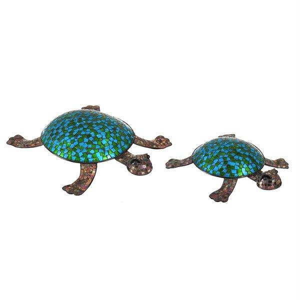 Ingleside Turtle 2 Piece Figurine Set by Bay Isle Home