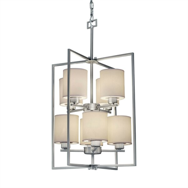Carlea 8-Light Shaded Rectangle / Square Chandelier By Red Barrel Studio