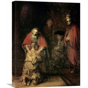 'Return of the Prodigal Son' by Rembrandt Van Rijn Painting Print on Wrapped Canvas by Global Gallery