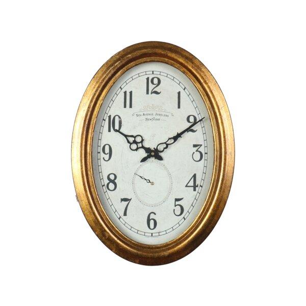 Darwen Gold Wall Clock by Canora Grey