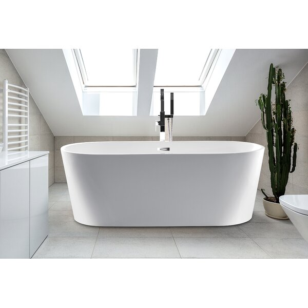 59 x 24 Scarlett Freestanding Soaking Bathtub by CastelloUSA